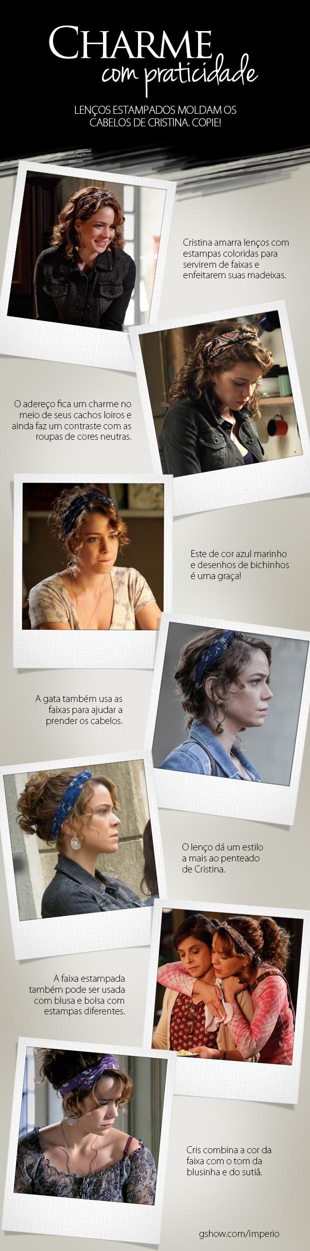Lenços Cristina (Foto: Império/TV Globo)