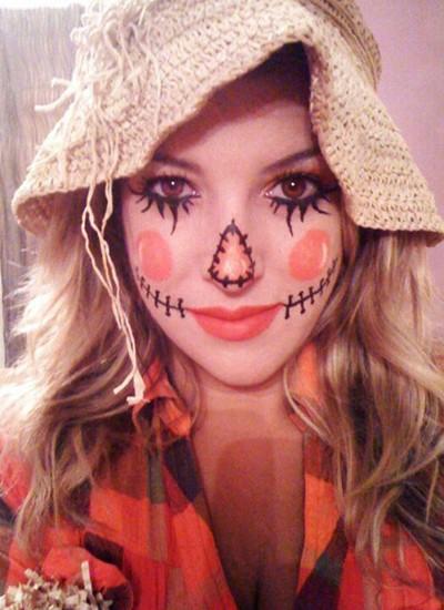 Presente em muitos filmes de terror, esse espantalho pode ser uma ótima opção de make para o Halloween (Foto: Pinterest.Meus 5 Minutos)