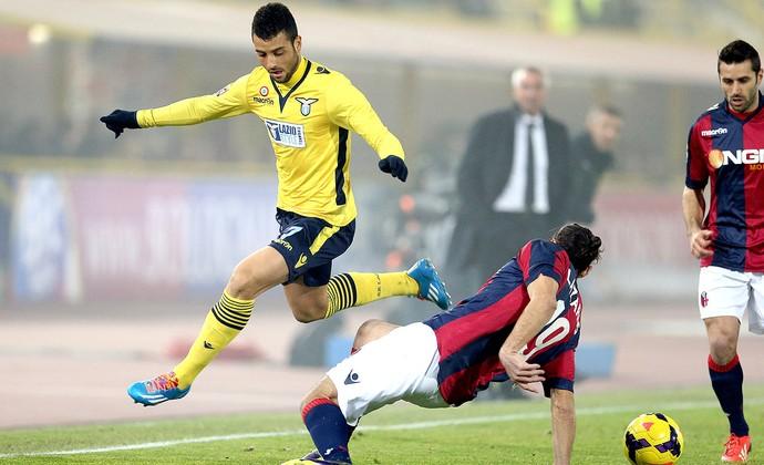 Felipe Anderson jogo Lazio e Bologna (Foto: AP)
