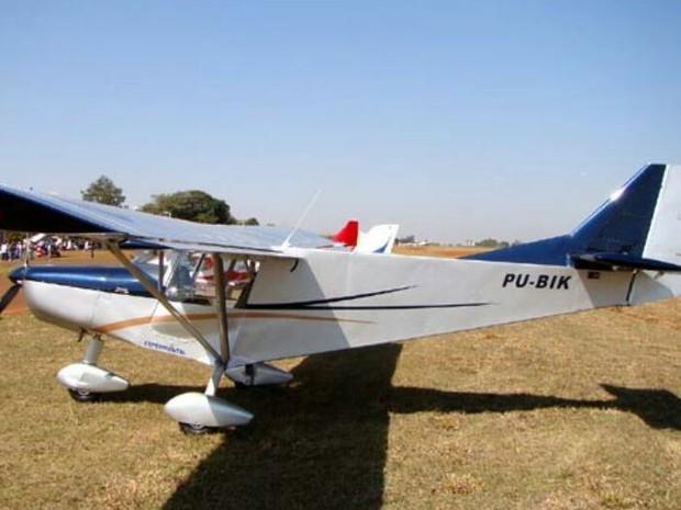 Aeronave que teria caído na Serra da Canastra (Foto: Ricardo Trutuoso/Aviação Paulista/Reprodução)