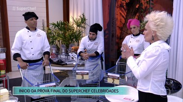 Desafio ao vivo define vencedor do Super Chef Celebridades