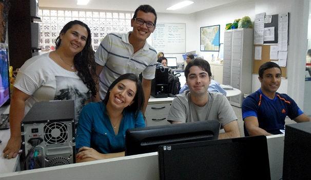Estagiários do Bom Dia Alagoas e do ALTV 1ª Edição (Foto: Divulgação/Anna Pontes)