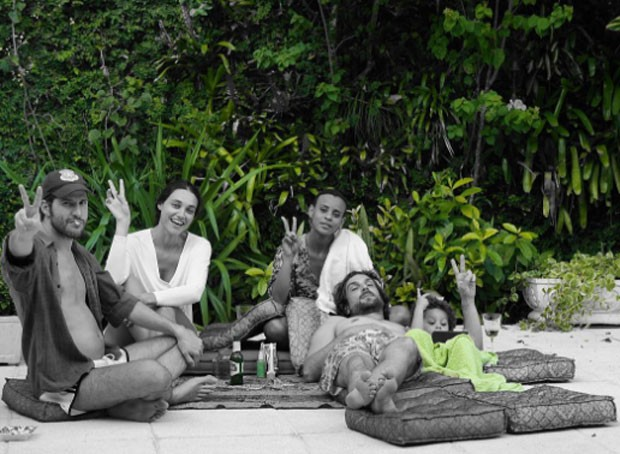 Thiago Teitelroit, Debora Nascimento, Aline Wirley, Igor Rickli e Antonio (Foto: Reprodução)
