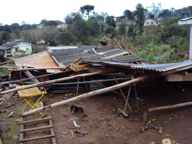 Cidade de Pinhão foi a mais atingida, segundo a Defesa Civil (Foto: Divulgação/Defesa Civil do Paraná)