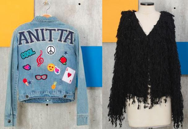 Casacos-tendência da Anitta: jeans com patches e versão felpudo  (Foto: Divulgação)