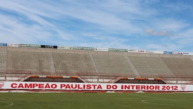 Romildo Ferreira, estádio do Mogi Mirim (Foto: Geraldo Bertanha/ Assessoria do Mogi Mirim)