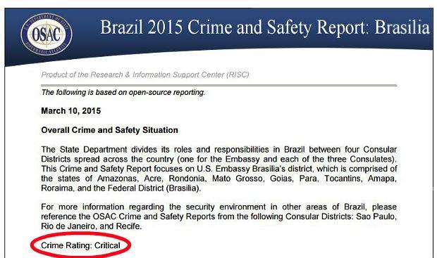 """Relatório da embaixada norte-americana diz que índice de criminalidade no DF é """"crítico"""" (Foto: Reprodução)"""