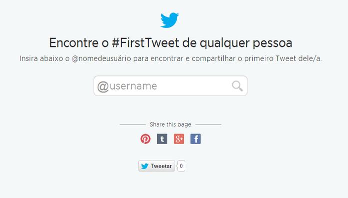 Twitter lançou ferramenta oficial para descobrir o primeiro tuíte do usuário (Foto: Reprodução/Elson de Souza)