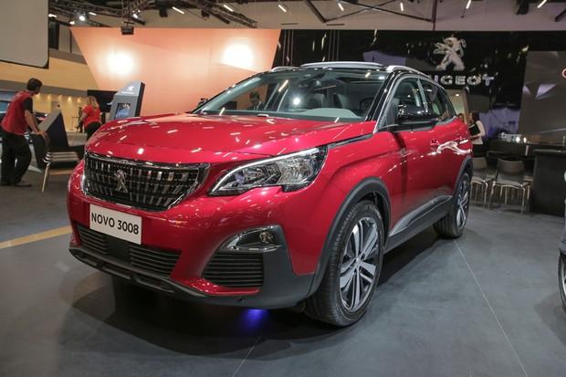 Peugeot 3008 no Salão do Automóvel 2016 (Foto: Marcos Camargo/Autoesporte)