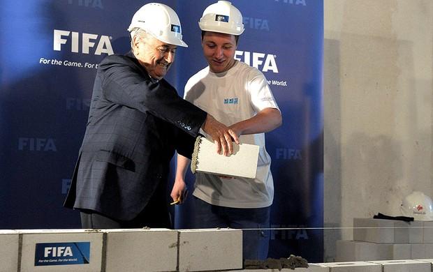 Blatter inauguração obras Museu Fifa Suíça (Foto: AP)