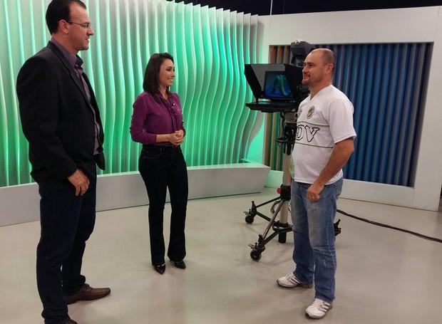 Fernando Carlos Pinheiro foi o primeiro Comentarista da Rodada no Jornal do Almoço Chapecó (Foto: RBS TV/Divulgação)