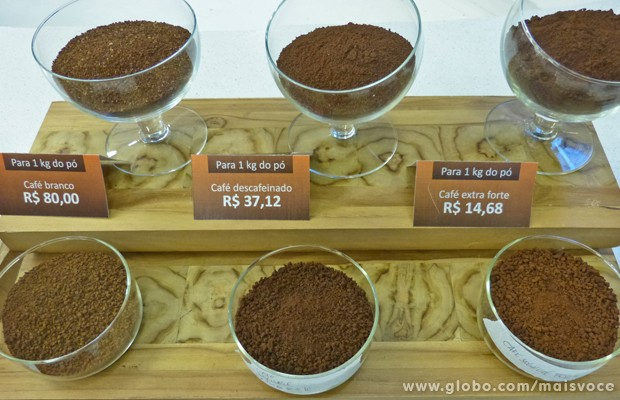 Café descafeinado, extra forte, branco: veja quanto custa o quilo do pó (Foto: Mais Você / TV Globo)