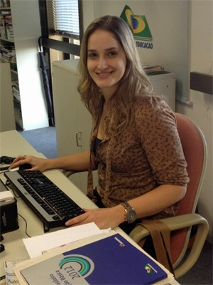Camilla Salmazi, assessora de imprensa do Todos Pela Educação (Foto: Ana Carolina Moreno/G1)