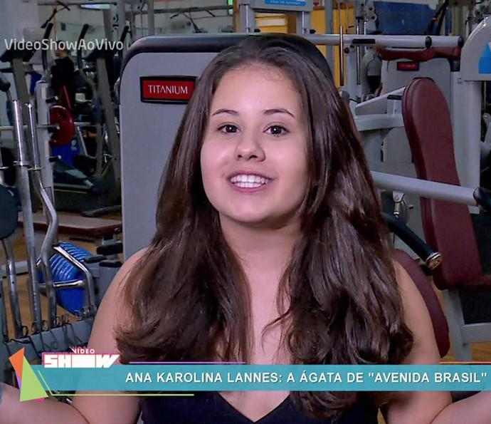 Ana Karolina Lannes relembra personagens que viveu na TV (Foto: TV Globo)