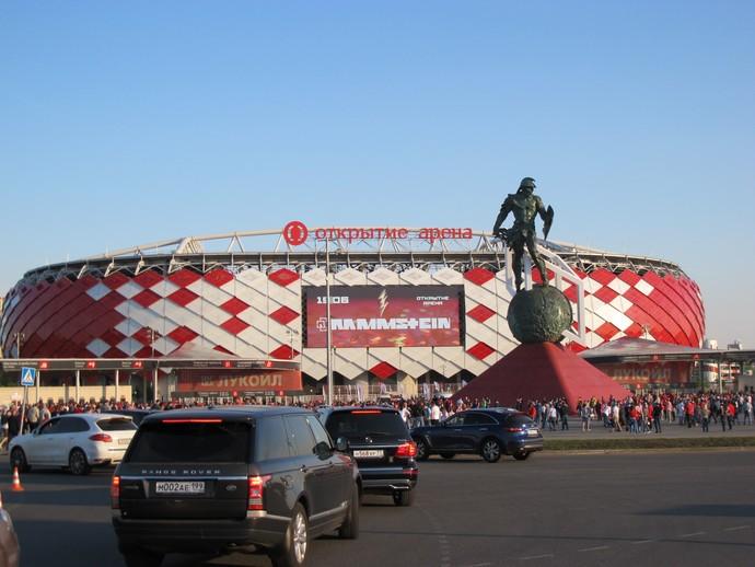 Estádio do Spartak Moscou (Foto: Eduardo Peixoto/GloboEsporte.com)