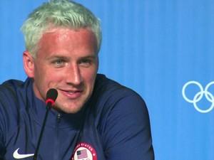 Ryan Lochte pede desculpa por falso relato de assalto na Olimpíada (Gnews) (Foto: Reprodução GloboNews)