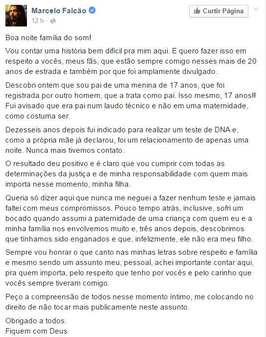 Falcão (Foto: Reprodução/Facebook)