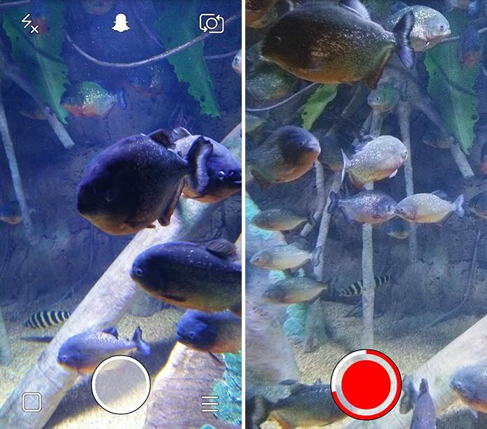 Fotografe ou grave seu vídeo normalmente antes de enviar para o usuário (Foto: Reprodução/Elson de Souza)