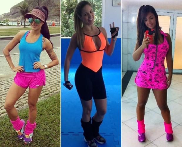 Aline, Raquel e Katia aderiram as polainas (Foto: Arquivo Pessoal)