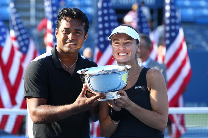 Martina Hingis e Leander Paes conquistam as duplas mistas do US Open (Foto: Getty Images)
