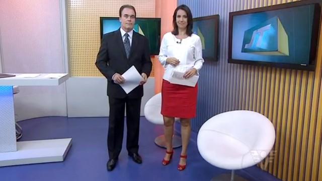 Tony Lamers e Vanessa Machado (Foto: Reprodução / TV Tribuna)