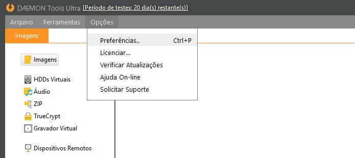 Abra as configurações do aplicativo (Foto: Reprodução/Helito Bijora)