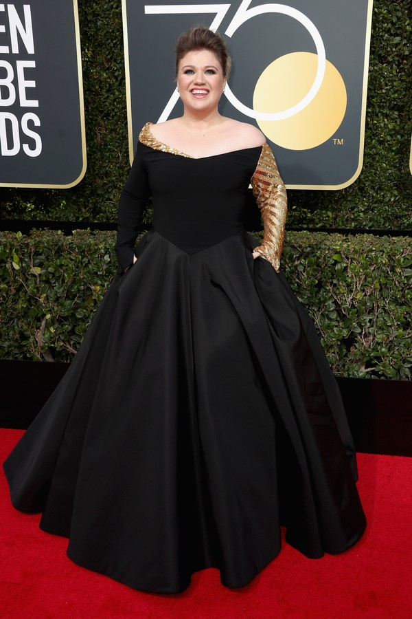 BEVERLY HILLS, CA - JANUARY 07:  Singer Kelly Clarkson attends The 75th Annual Golden Globe Awards at The Beverly Hilton Hotel on January 7, 2018 in Beverly Hills, California.  (Photo by Frederick M. Brown/Getty Images) (Foto: Getty Images)