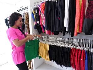 Loja de confecção contrata vendedoras em Petrolina (Foto: Pollyanna Gondim / arquivo pessoal)