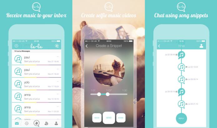 Comunique-se com seus amigos usando pedaços de músicas com o La-La (Foto: Divulgação/AppStore)