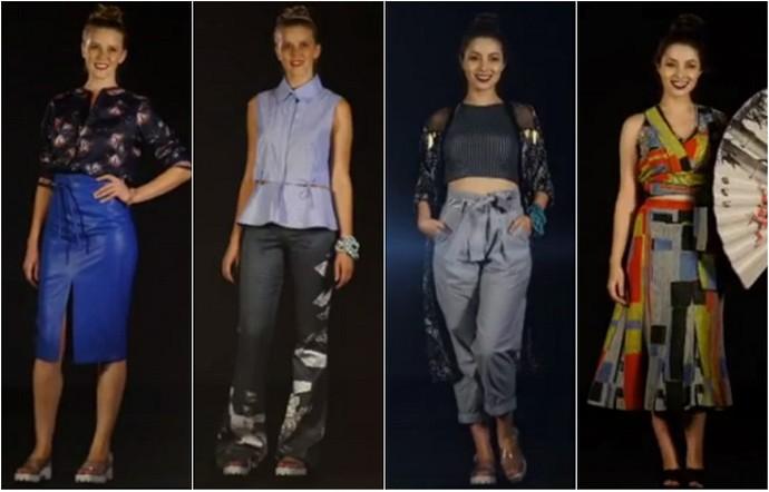 Andrea mostra quatro looks que abusam da tendência (Foto: Reprodução/RPC)