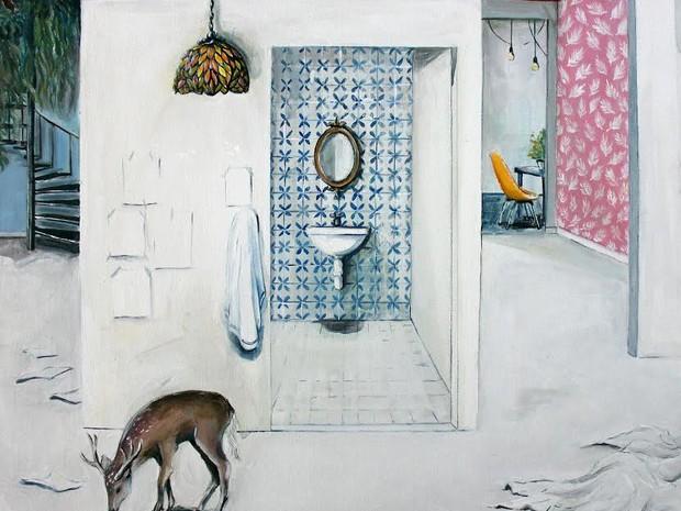 Colagem de Liliana Sanches, artista explora a vida cotidiana e o ambiente doméstico (Foto: Divulgação/Madu)