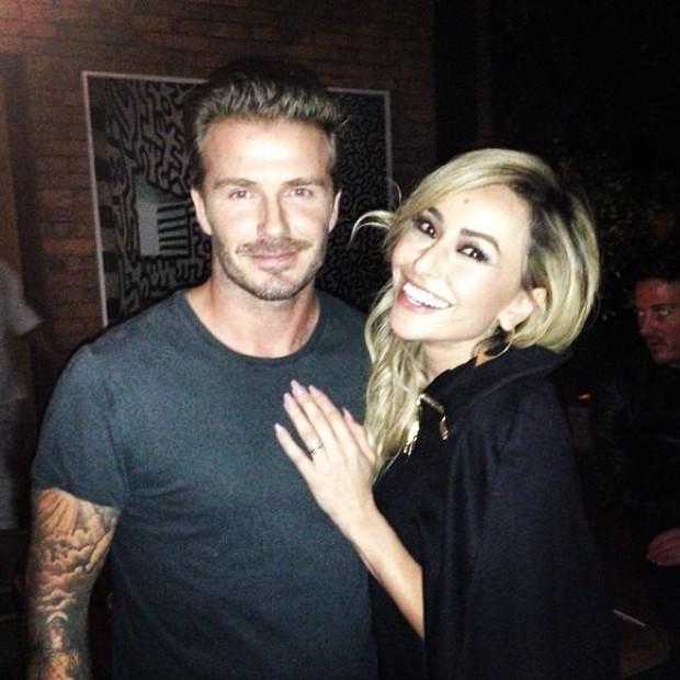 Sabrina e David Beckham (Foto: Reprodução do Instagram)