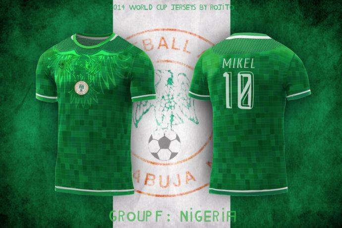 Blog da Copa - design camisa da Nigéria