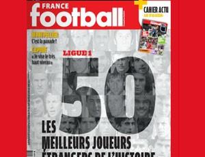 juninho pernambucano  Os maiores estrangeiros da história do futebol francês  (Foto: Reprodução/France Football)