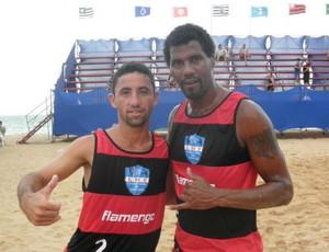 Aldair defende o Flamengo na Liga Nacional de Futevôlei (Foto: Divulgação)