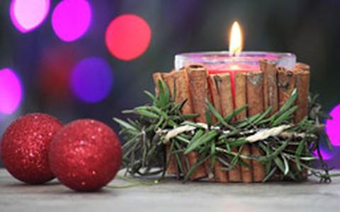 Aprenda a fazer porta-vela com inspiração natalina