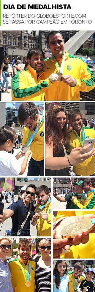 Mosaico Dia de Medalhista Repórter do GloboEsporte.com (Foto: infoesporte)
