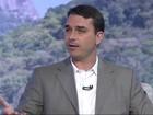 Flávio Bolsonaro é entrevistado no RJTV