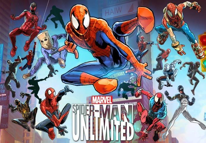 Controle várias versões do Homem-Aranha em Spider-Man Unlimited (Foto: Divulgação)