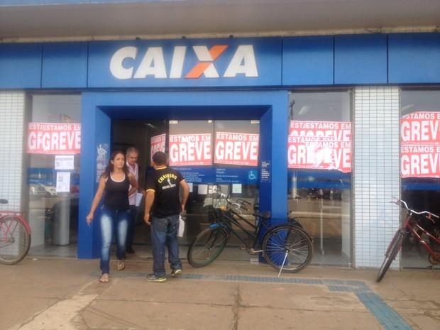 Greve dos bancos Rondônia (Foto: Hosana Morais/G1)