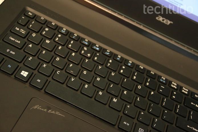 Detalhe do Acer V Nitro Black Edition (Foto: Fabricio Vitorino/TechTudo)