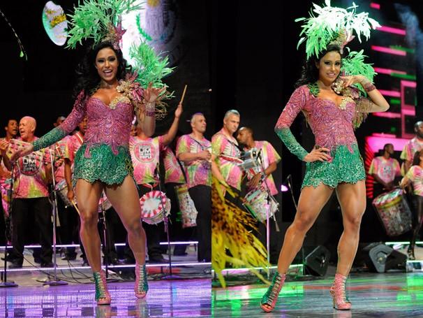 Gracyanne Barbosa é a rainha da Mangueira no Carnaval 2013 (Foto:  TV Globo/Renato Rocha Miranda)