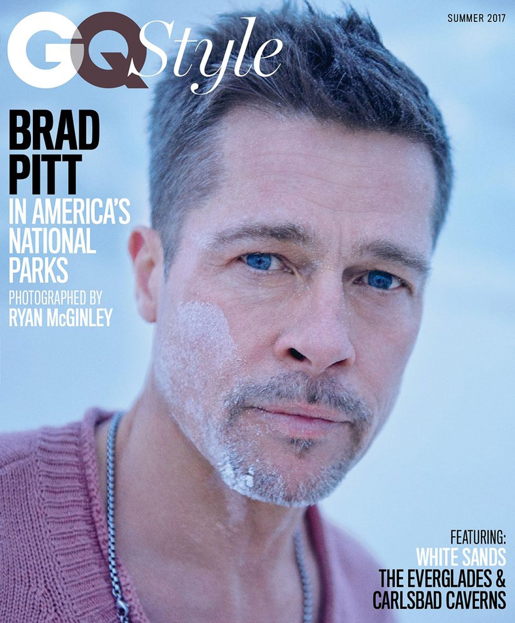Brad Pitt na capa da GQ Style (Foto: Reprodução)