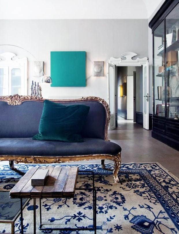 Sala De Estar Em Tons De Azul ~ Décor do dia tons de azul na sala  Casa Vogue  Décor do dia