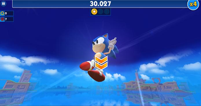 Complete as poses de Sonic para multiplicar seus anéis (Foto: Reprodução/André Mello)