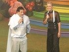 Xuxa e Sérgio Mallandro dividem o palco em festa no Rio