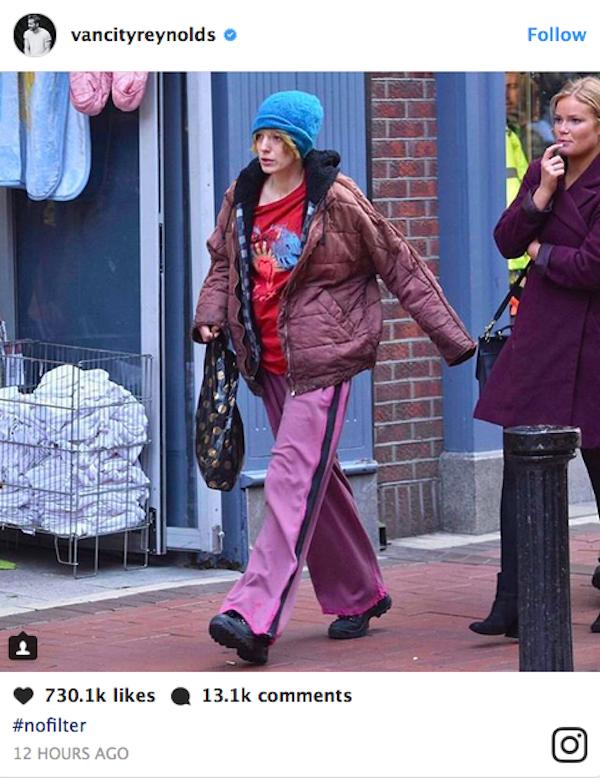 A provocação feita pelo ator Ryan Reynolds à sua esposa, a atriz Blake Lively (Foto: Instagram)