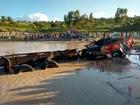 Caminhão tomba em rodovia, cai em açude e motorista morre no Agreste