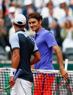 Roger Federer - Roland Garros - estreia (Foto: Getty Images)