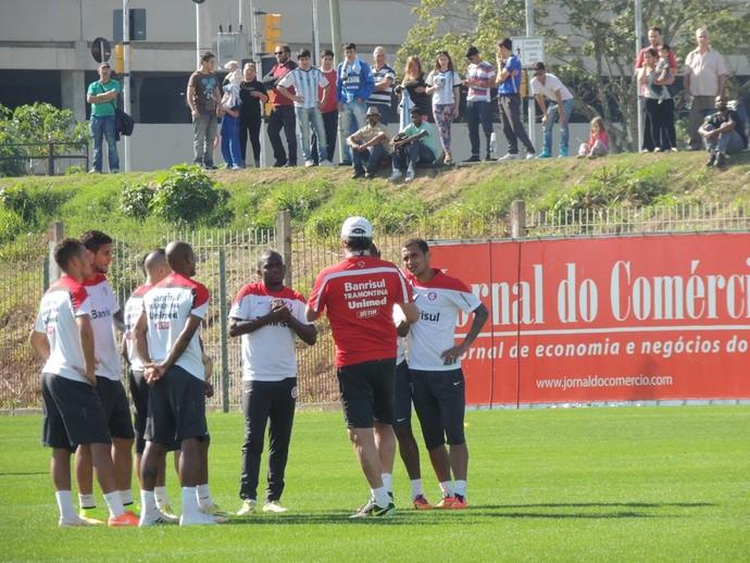 inter treino parque gigante (Foto: Tomás Hammes/Globoesporte.com)